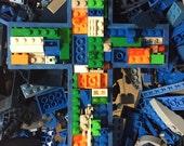 Handmade toy brick cross,
