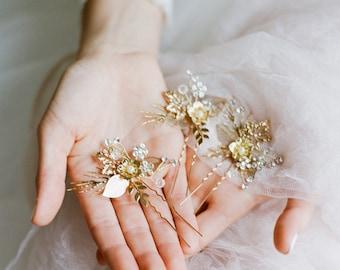 Bridal Hairpins, Bridal Hairpiece, SIENNA Hairpin, Bridal Halo, Bridal Headpiece, Bridal Hairpins, Bridal Hair Pins