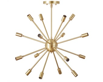 Brass Sputnik Chandelier: Sputnik Chandelier No. 1 - The Classic,Lighting