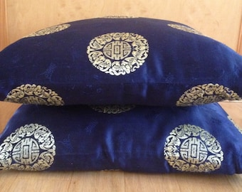 SALE! pair of vintage silk Asian pillow covers