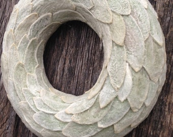 Candle Ring  Christmas decoration  Home decor Christmas Wreath Winter Wreath  Grey gray