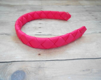 Bright Pink headband for American Girl and other 18 inch dolls