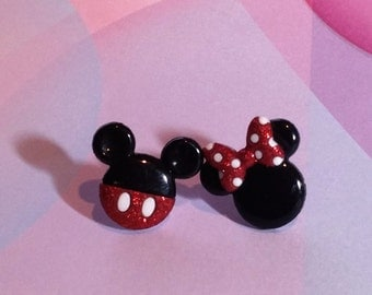 Minnie & Mickey Mouse Earrings