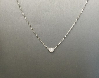 Tiny Heart Necklace-Gold