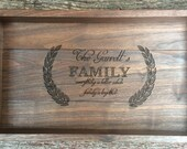 Serving Tray, Rustic Serving Tray,Personalized Serving Tray, Wood Tray, Ottoman Tray, Wine Serving Tray, Tea Serving Tray