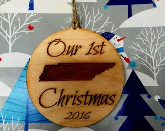 Ornament, Christmas Ornament, State Ornament, Personalized Ornament