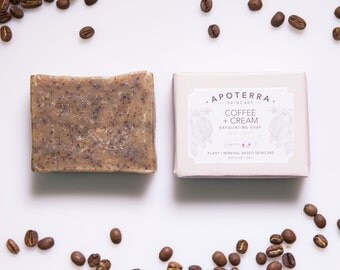 Coffee + Cream Exfoliating Soap