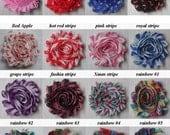 "10 PRINT Shabby Flowers ~ 2.5"" Chiffon Flowers"