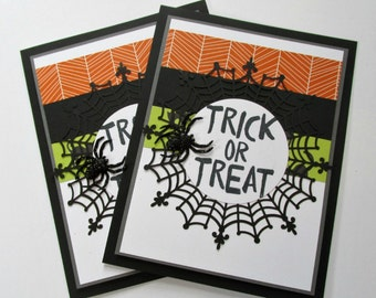 Trick or Treat Halloween Card - Halloween Birthday Card - Invitation