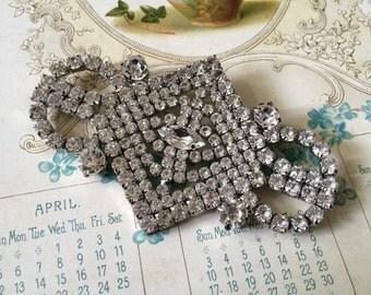 Victorian glamours bridal Swarovski rhinestone crystals dress Victorian brooch pin, rhinestones brooch, crystals brooch, wedding brooch