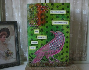 Recycled Cereal Box Mixed Media Junk Journal Doodle Book