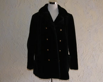 Vintage Tissavel For Country Pacer Brown Knee Length Faux Fur