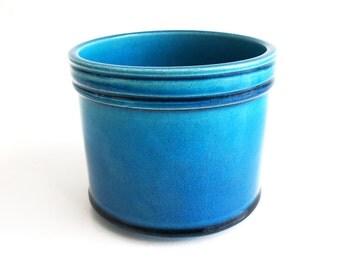 Kähler Denmark // Nils Kähler // HAK // Planter turquoise glazed // Vintage