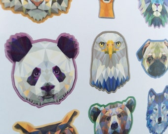 Planner stickers - Polygon animals