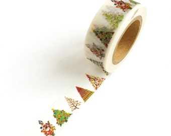 Christmas Washi Tape Trees
