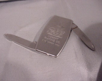 ZIPPO Advertising Pocket Knife Nobert Plating Co. Coffee Tea Pot Graphics