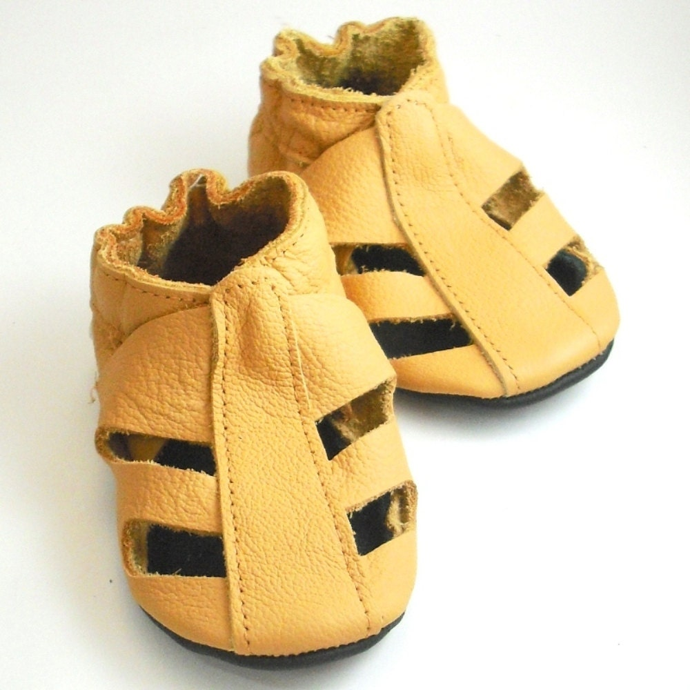 soft sole baby shoes handmade infant t sandals yellow 0 6