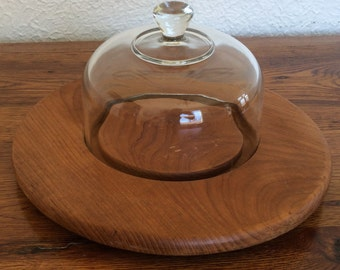 Vintage Cheese Dome Covered Serving Board