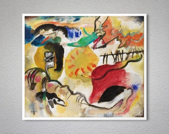 Improvisation 29 (Garden of Love II)  by Wassily Kandinsky - Poster Paper, Sticker or Canvas Print