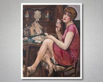 Hjerterdame by Gerda Wegener 1928 -  Poster Paper, Sticker or Canvas Print / Gift Idea