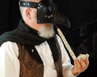 Convertible Paracelsus Plague Doctor mask, made to order.