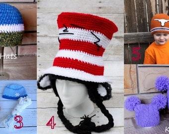 Crochet cat hat.Ready to ship hats