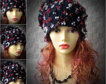 Womens trendy hat, women slouchy beanie, winter hat, women slouchy hat, slouchy knit hat, beanie hat, women knit slouchy hat