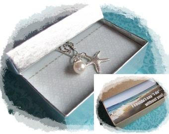 STARFISH NECKLACE - Starfish Necklace - Starfish Jewelry, Starfish Necklaces, Bridesmaids Jewelry