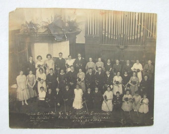 Vintage 1922 Recital, VIOLIN ENSEMBLE PHOTOGRAPH, photo 7.75 x 9.5