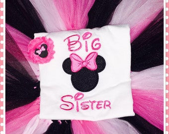 Big Sister Minnie Mouse tutu outfit