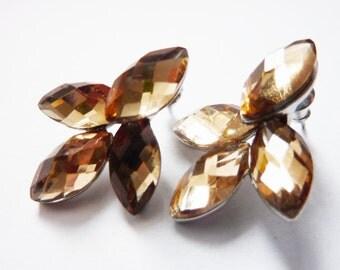 Fashion Leaf Boho Crystall Earrings