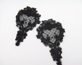Black Lace Applique