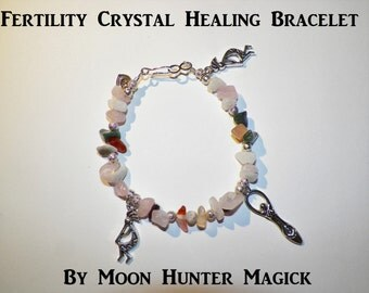 Stone Magick Fertility Charm Bracelet 20+ years experience Crystal Healing