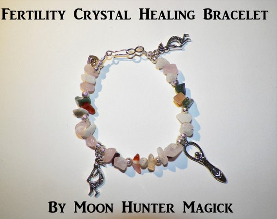Stone Magick Fertility Charm Bracelet 20+ years experience Crystal Healing