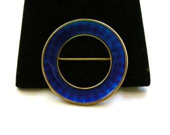 EINAR MODAHL  Norway Modernist Sterling & Enamel  Vintage Brooch Pin  925S EM N
