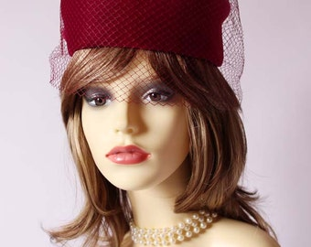 Authentic vintage classic pillbox hat, races, church, Ascot hat, wedding hat, mother of the bride hat
