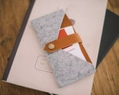 "iPhone 5S Sleeve, iPhone 5S Wallet, suits iPhone 5, iPhone 5C,  leather, felt, ""Rough Edge"""