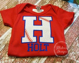Baseball Themed Applique shirt - Baseball & Cheer Shirt  - infant to adults! 41