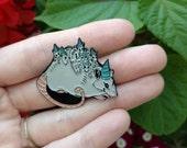Possum Party - enamel pin -lapel pin - 1.5 inch enamel pin- opossum - baby possum - party hat