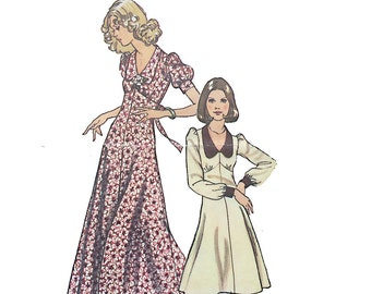 "Vintage pattern | Simplicity 6605 size 8 ""How to Sew"" 1974 fit-and-flare baby doll dress pattern"