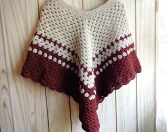 Crochet Poncho / Handmade Poncho /  Crocheted Poncho For Women / Handmade Wrap / Cape  For Woman/ Spring Poncho /  Fall Poncho