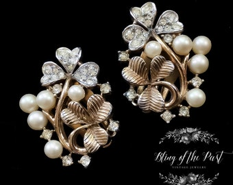 Pearl Earrings Vintage_Jewelry