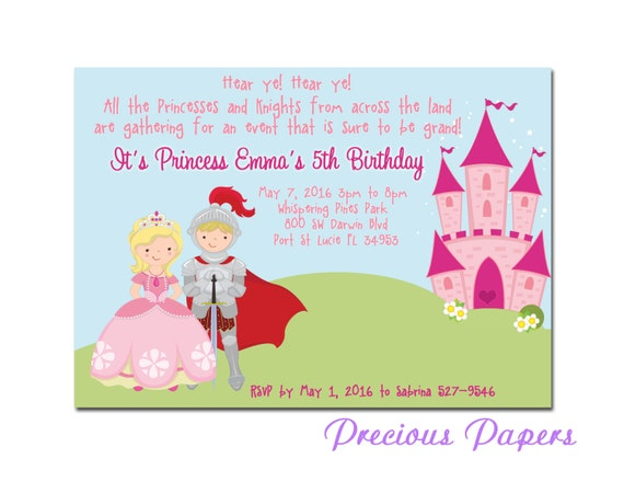 Prince and princess party invitations princess birthday party like this item stopboris Image collections