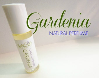 Gardenia Perfume - Natural Roll On Perfume Oil -  Organic Fragrance Perfume  - Vegan Perfume - Gardenia Fragrance .3 oz Glass Roll On Bottle