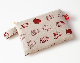 cat butts zip pouch