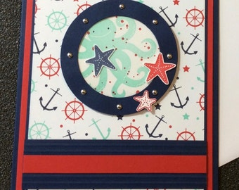 All Occasion, Nautical, Handmade, stampin up