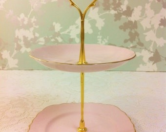 Baby Pink 2 Tier Mini Cake Stand