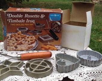 Nordic Ware Rosette Cookie Iron with 4 shapes Original Box Swedish Cookies Danish Baking Deep fried Timbales Scandinavian