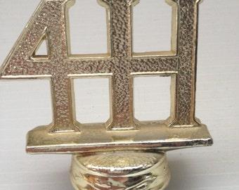 4-H Gold Metal Trophy Top Vintage Metal Trophy Topper