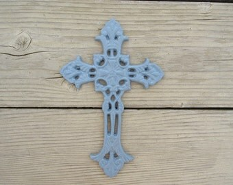 Cast Iron Blue Cross Home Decor Wall Hanging Country Home Farmhouse